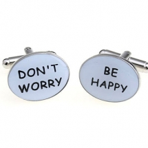Запонки Don't worry, Be happy